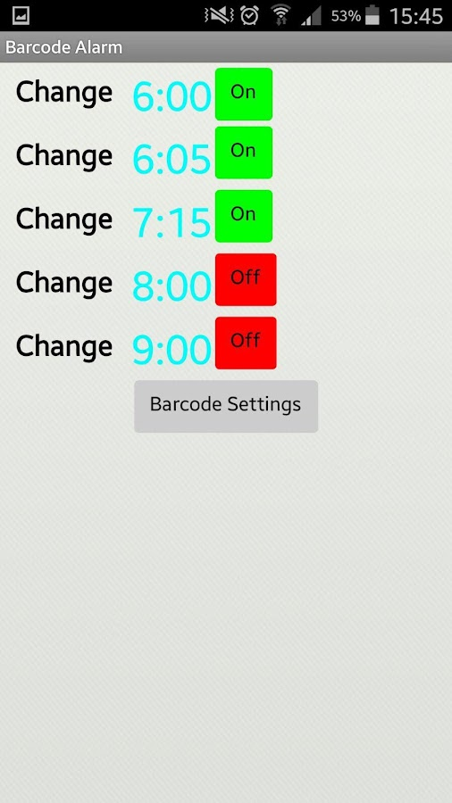 Barcode Alarm- screenshot
