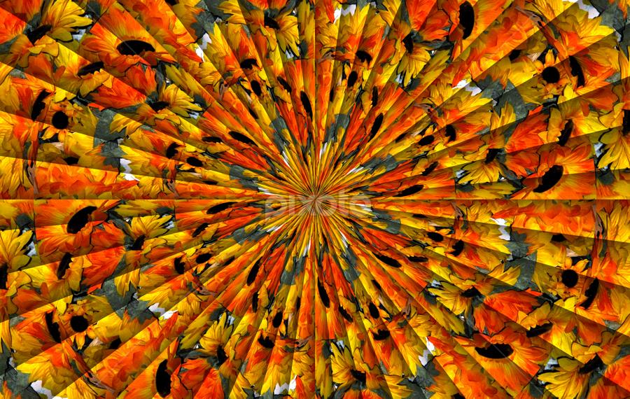 Abstract 2 - 7834 by Tina Dare - Digital Art Abstract ( abstract, distortion, circles, patterns, designs, amber, shapes )