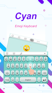 Cyan Theme&Emoji Keyboard - náhled