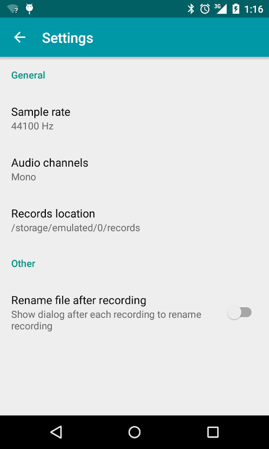 Recorder- screenshot