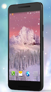 Romantic Snow Live Wallpapers screenshot 1