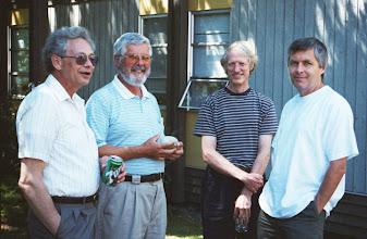 Photo: John Stevens, John Coulthard, Jason Halm, and Dennis O'Reilly