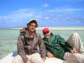 Photo: This photo of Brian Flechsig and Flip Pallot was lost at the bottom of the sea for many years- Andros Island