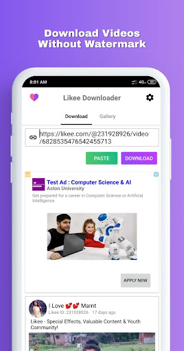 Download Likee Video Downloader Without Watermark Free For Android Download Likee Video Downloader Without Watermark Apk Latest Version Apktume Com