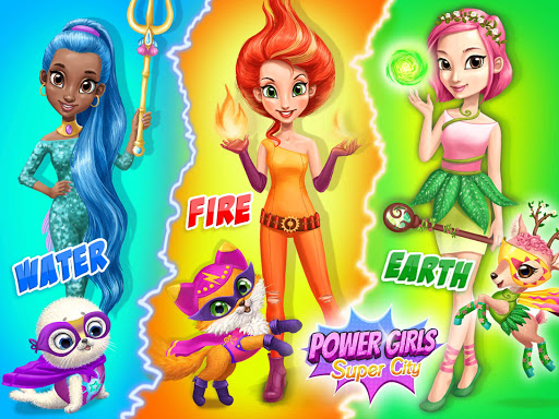 Power Girls Super City - Superhero Salon & Pets apktram screenshots 10