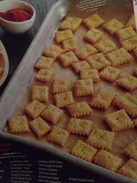 Cheddar Cheese Snack Crackers Recipe