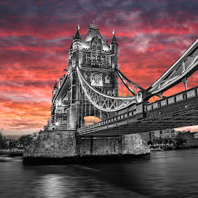 Tower Brdge by Peter Wyatt - Buildings & Architecture Bridges & Suspended Structures ( fatherthames, london, towerbridge, thames, river,  )