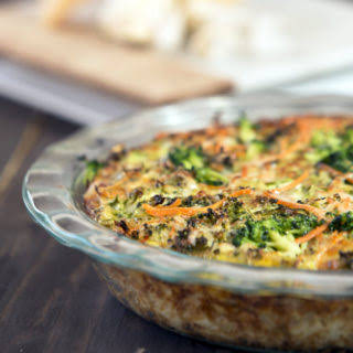Cauliflower-Crusted Vegetable Quiche By Mary Carter - October 31, 2016.