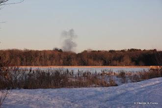 Photo: Car fire smoke from Rte. 128