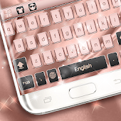 Pink Gold Keyboard Theme