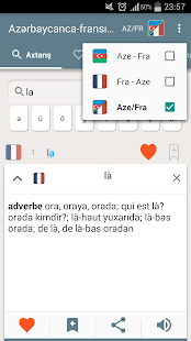 French-Azerbaijani dictionary- screenshot thumbnail