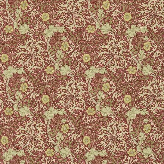 Morris Seaweed Tapet - red/gold