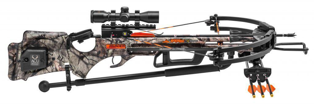 Side profile of the Wicked Ridge Invader G3 crossbow by Tenpoint
