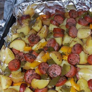 Smoked Sausage and Potato Bake.
