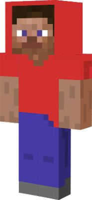 Steve with a red hoodie