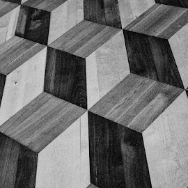 3D Floor by Alan Cline - Abstract Patterns ( russia, st petersburg russia, wood inlay, museum floor )