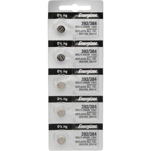 Energizer 392/384 Silver Oxide Battery: Card of 5