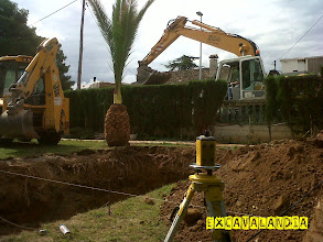 Photo: Excavacion de piscina en  canyelles