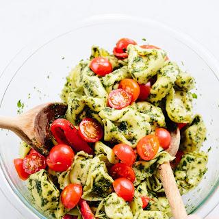 Pesto Tortellini Pasta Salad.