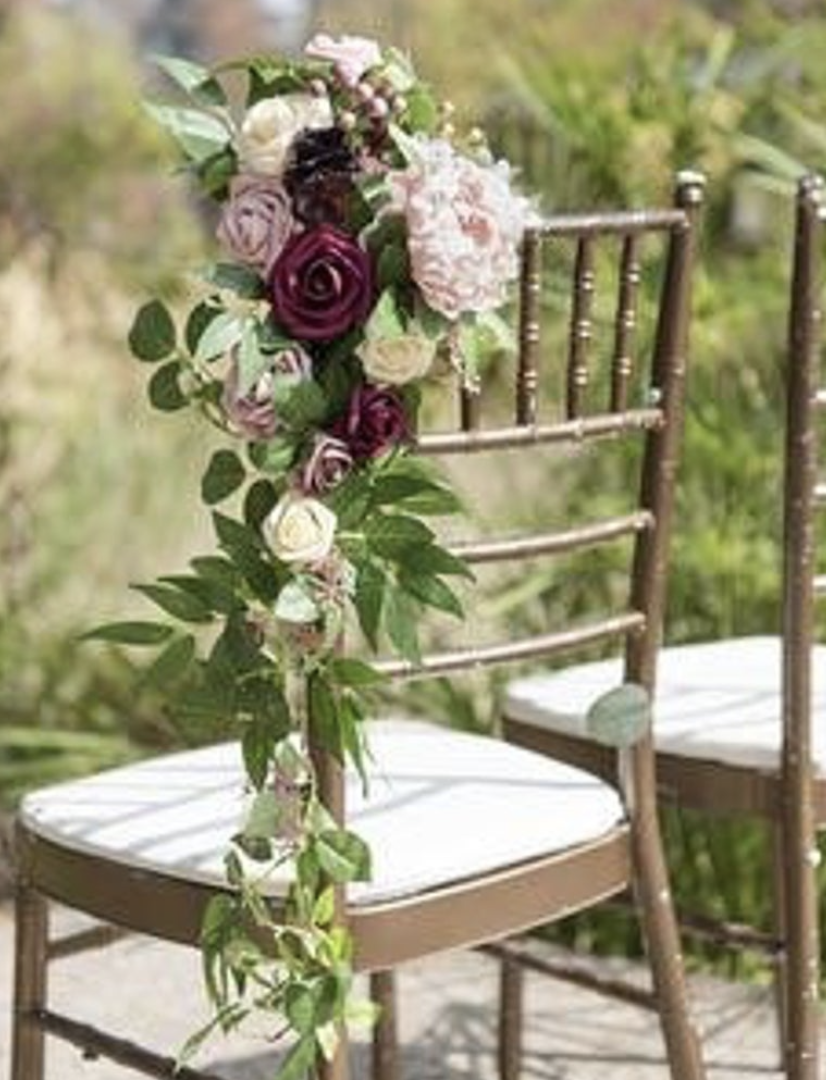flower seating at a wedding