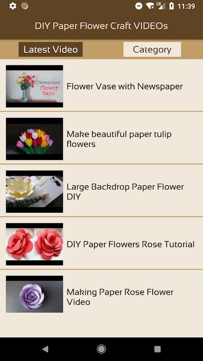 DIY Paper Flower Craft VIDEOs APK Download - Apkindo.co.id 4002bb586a