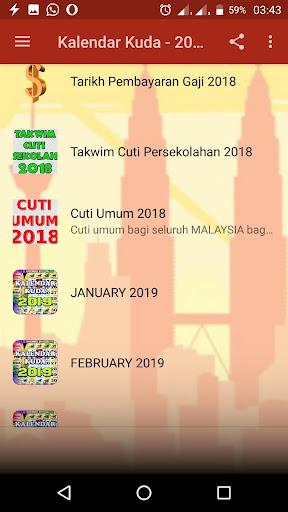 Kalendar Kuda Malaysia - 2019 screenshot