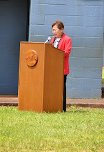 Photo: Superintendent Matayoshi closed the program by thanking everyone who was instrumental in securing the grant and funding for this project.