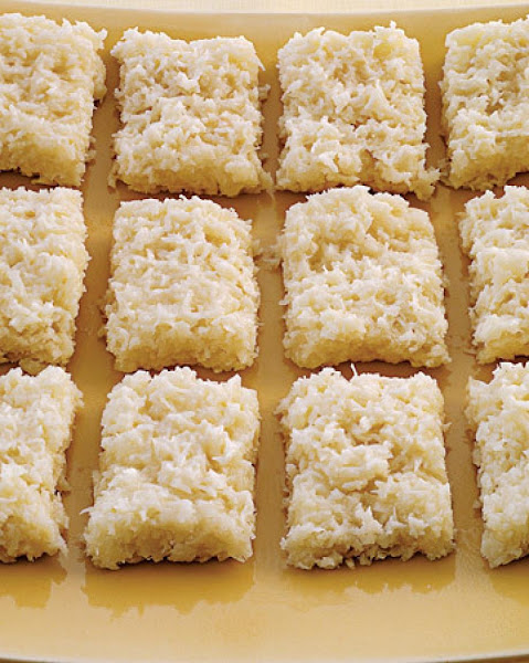 Haresch A Traditional  Middle Eastern Coconut Cake Recipe