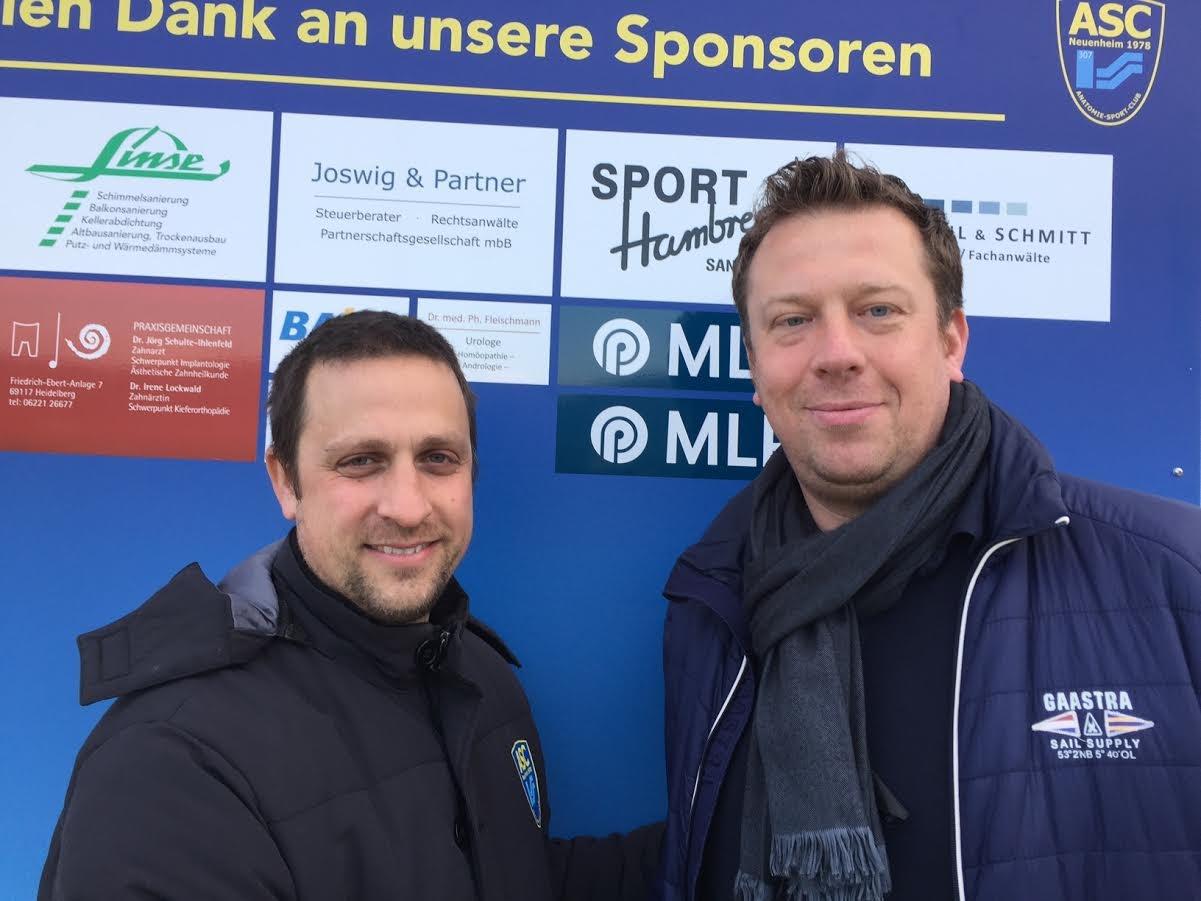 Ex-Trainer: Timo Mifka (li) und neuer Trainer Frank Schüssler