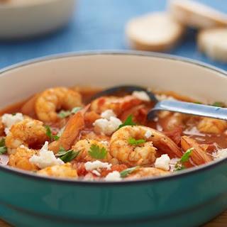 Spicy Prawn, Tomato And Feta Stew