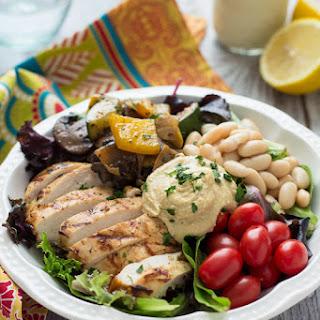 Mediterranean Chicken & Grilled Veggie Salad