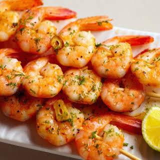Shrimp Skewers with Garlic-Lime Marinade.