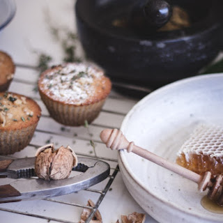 Honey, Walnut + Thyme Muffins.