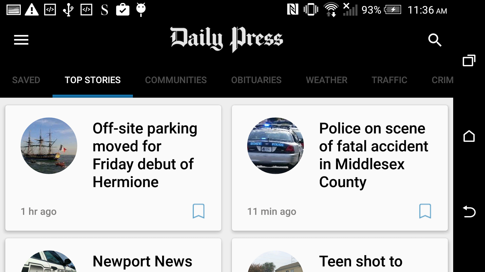 Daily Press- screenshot