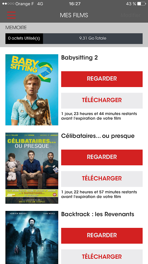 PlayVOD - Films à télécharger – Capture d'écran