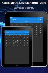 App South Africa Calendar 2019 APK for Windows Phone