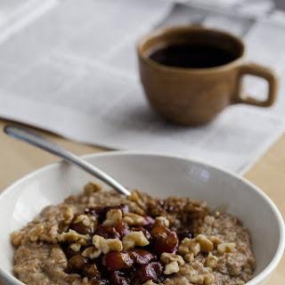 Cracked Rye Porridge with Roasted Molasses Cherries