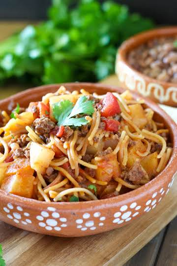 Fideo con Carne and Papas - addicted to recipes