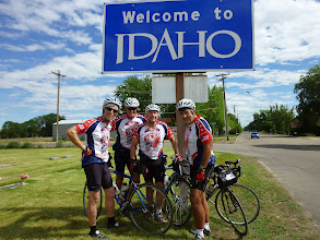 Photo: Day 8 Baker OR to Fruitland ID 84 miles 2180 ' climbing  :We made it through Oregon and have arrived in Idaho!