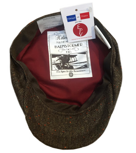 casquette-helice-eclair-dassault-aviation-barnstormer-tweed-hiver-made-in-france