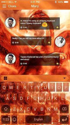Flaming Dragon Emoji Keyboard  screenshots 2