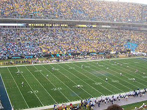 Photo: We had great seats! Here's the opening kickoff.