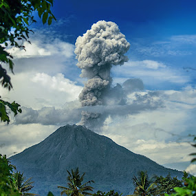 Continuous Eruptions by Kriswanto Ginting's - Landscapes Mountains & Hills ( volcano, kriswanto ginting, indonesia, pixoto, nikon, sinabung,  )