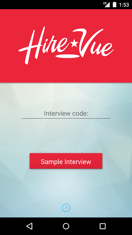 HireVue- screenshot