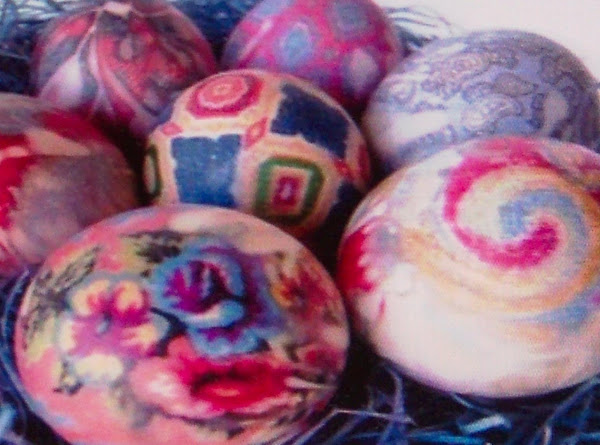Easter Eggs Silk Dyed..........site Recipe