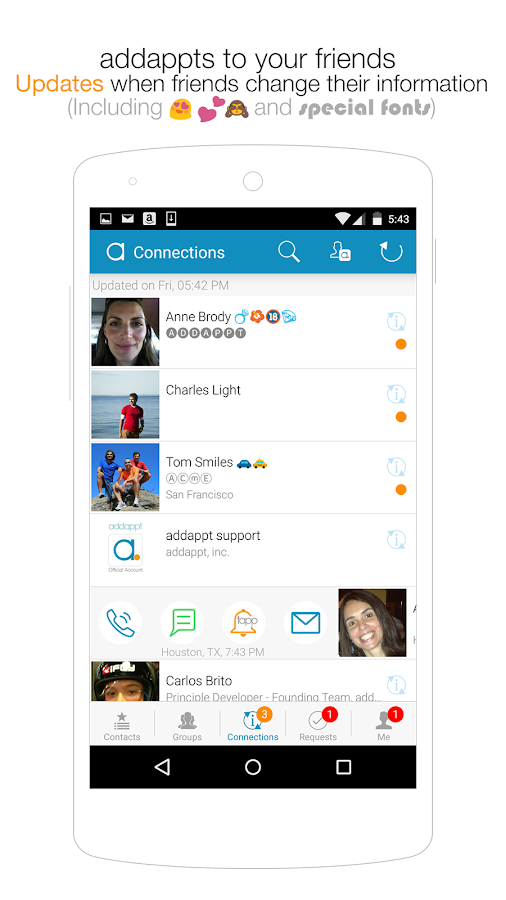 addappt: up-to-date contacts- screenshot