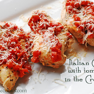 Italian Chicken with Tomatoes in the Crock-Pot.