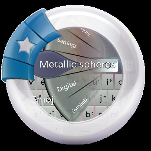 Metallic spheres GO Keyboard 個人化 App LOGO-APP試玩
