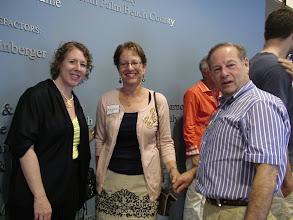 Photo: Danielle Hartman and Margaret and Robert Blume. / 4-21-13 Les & Sydelle Art exhibit at Weissman Ctr