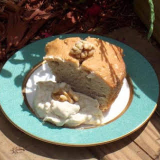 Walnut Cake With Maple Mascarpone Cream.